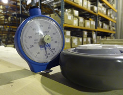 Shore A Durometer with Polyurethane Wheel